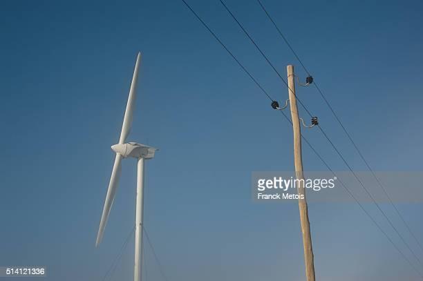 Wind turbine + electric pole