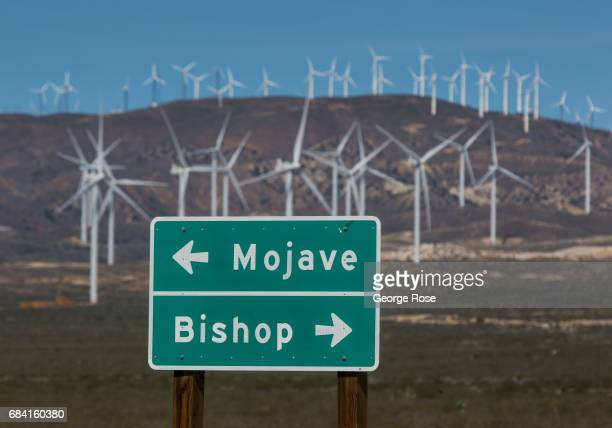 A wind turbine farm east of Tehachapi is viewed on April 4 near Mojave California California Highway 58 stretches across the central part of state...