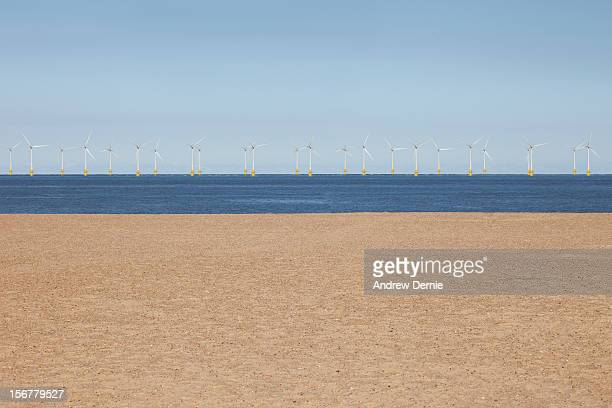 wind turbine farm - andrew dernie stock pictures, royalty-free photos & images