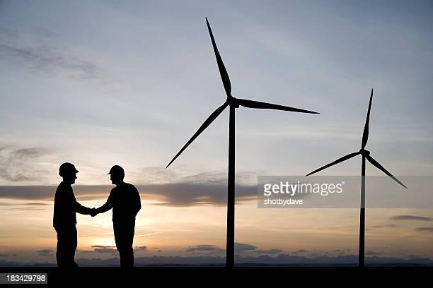 Wind Turbine Handshake