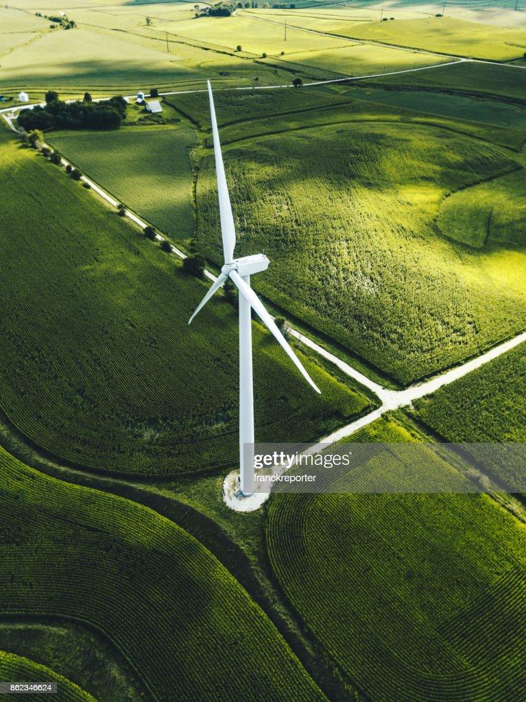 wind turbine in iowa : Stock Photo