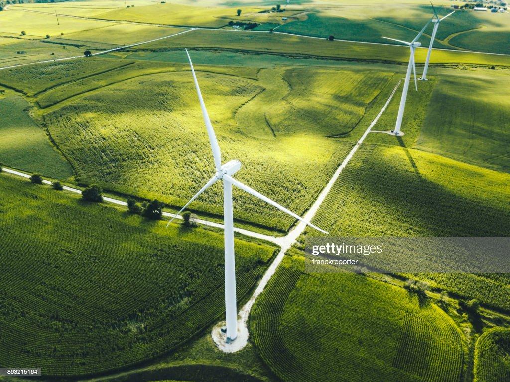 Windkraftanlage in iowa : Stock-Foto
