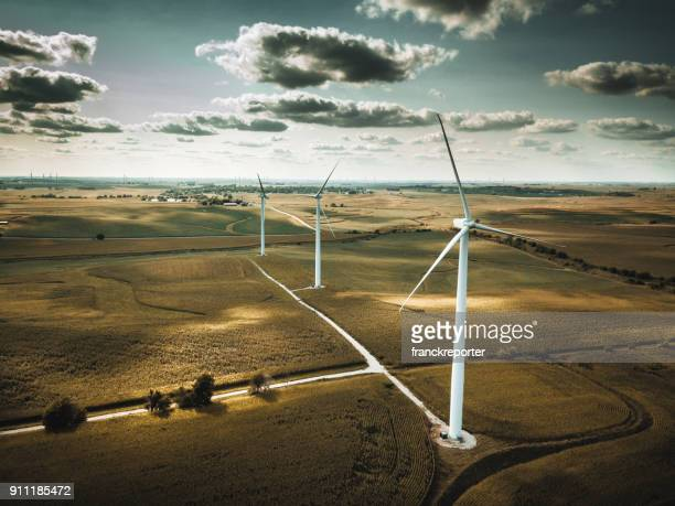 wind turbine in nebraska - nebraska stock photos and pictures