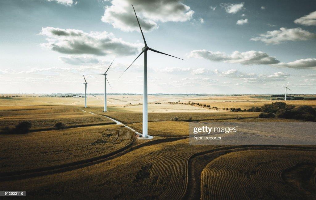 Windkraftanlage in nebraska : Stock-Foto