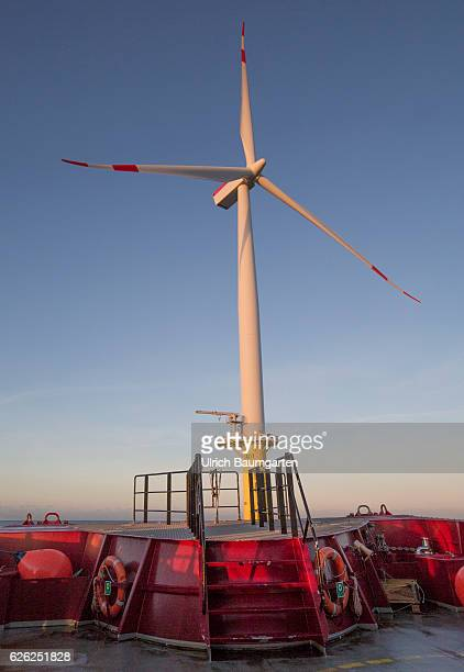 Wind turbine in the offshore wind farm Amrumbank West of the EON SE