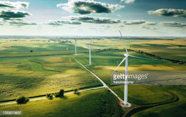 wind turbine in usa - environment stock pictures, royalty-free photos & images
