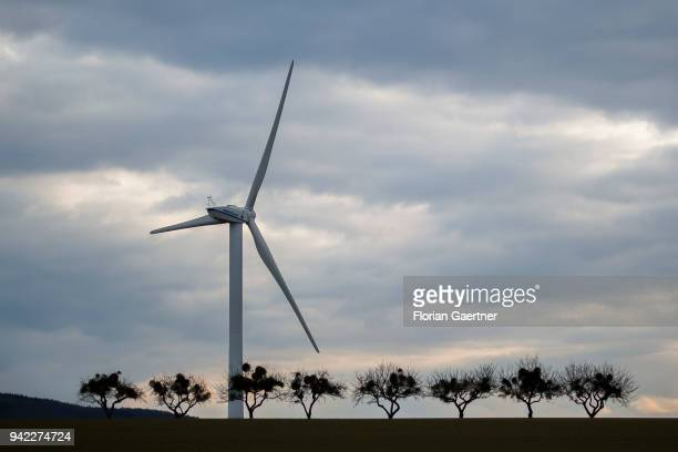 A wind turbine is pictured on March 29 2018 in Reichenbach/OL Germany