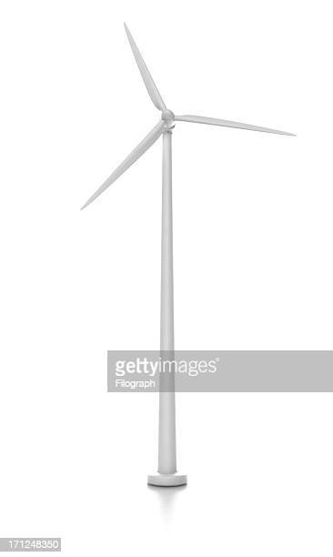 wind turbine isolated on white - wind turbine stock pictures, royalty-free photos & images