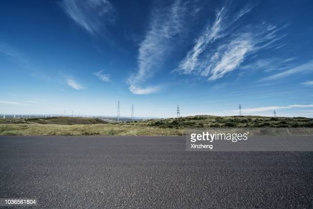 wind turbine on hulunbuir grasslands - great plains stock pictures, royalty-free photos & images