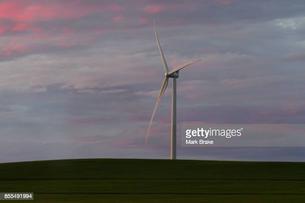 Wind Turbine on the way to Tesla Powerpack Launch Event at Hornsdale Wind Farm on September 29 2017 in Adelaide Australia Tesla will build the...