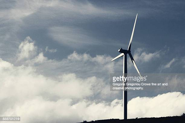 wind turbine - gregoria gregoriou crowe fine art and creative photography stock photos and pictures