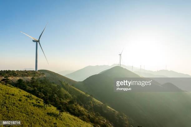 wind turbine - energia eolica foto e immagini stock