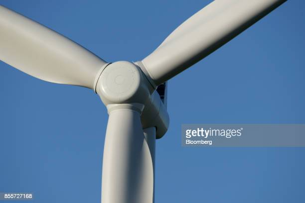 A wind turbine stands at the Hornsdale wind farm operated by Neoen SAS near Jamestown South Australia on Friday Sept 29 2017 Against a backdrop of...