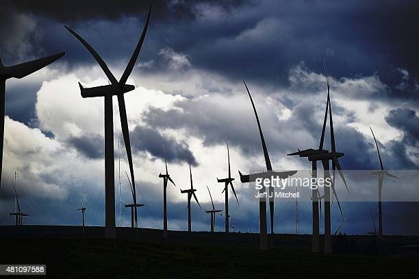 Wind turbines are seen at Whitelees wind farm on July 17 2015 in East Kilbride Scotland According to a trade body Scottish councils could lose out on...