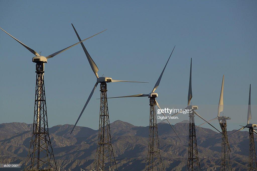 Wind Turbines at a Wind Farm : Stock Photo