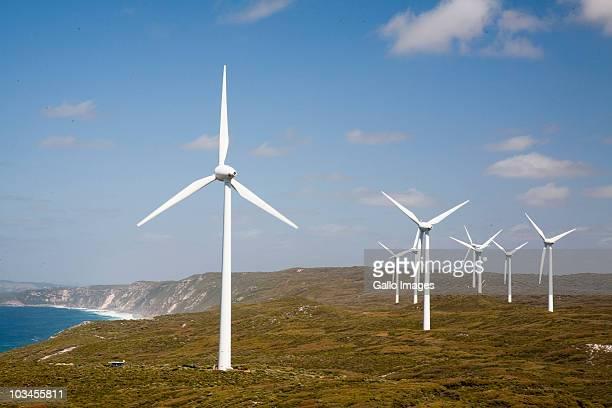 Wind turbines at Albany Wind Farm, Albany, Western Australia, Australia