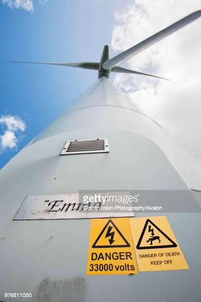 Wind turbines at Lambrigg wind farm owned by Npower near Sedburgh Cumbria UK