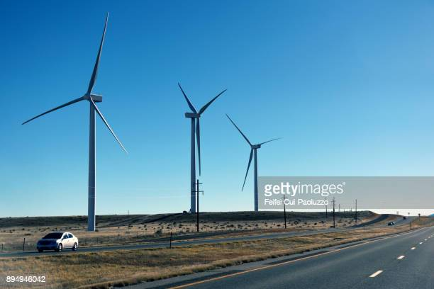 Wind turbines at Pueblo, Colorado, USA