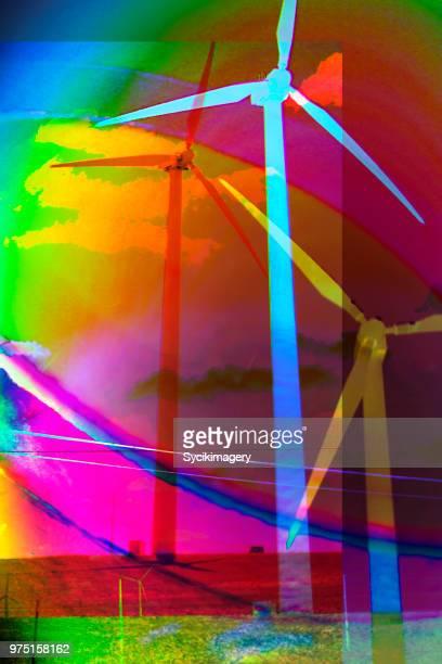 Wind turbines, digital composite