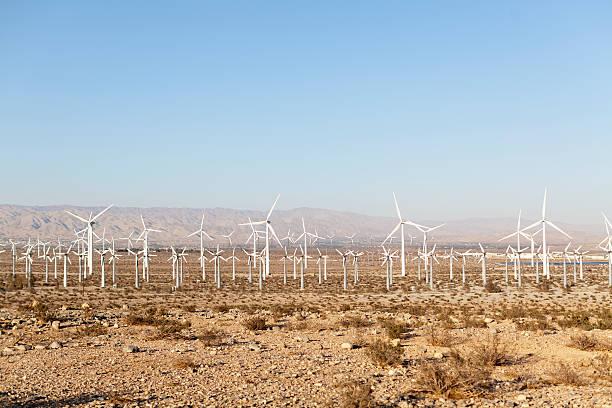 Wind Turbines In A Desert Landscape Wall Art