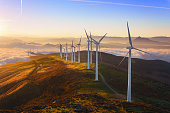 wind turbines in Oiz eolic park