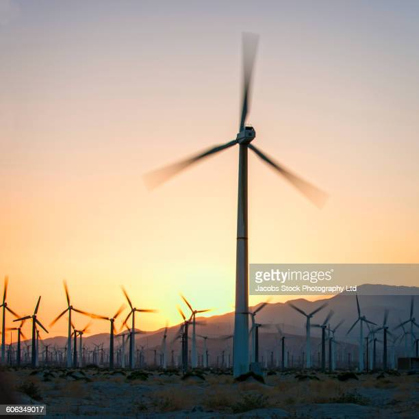 Wind turbines in remote field