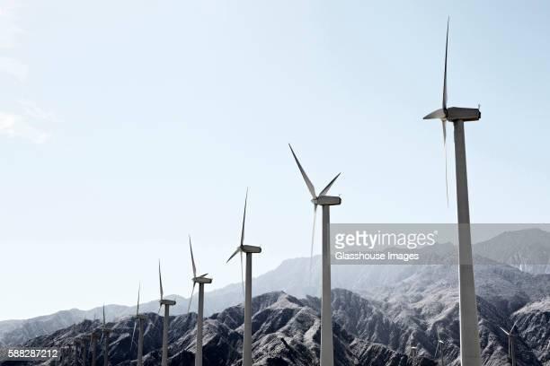 Wind Turbines in San Bernardino Mountains, California, USA