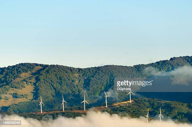 Wind turbines in the early morning