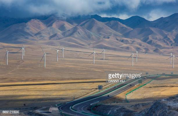 wind turbines in west China