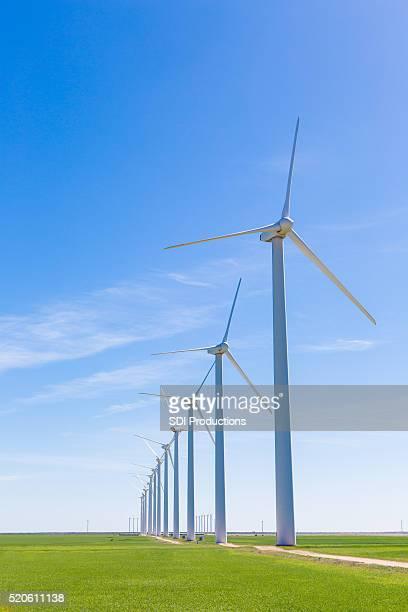 Wind turbines in windmill farm