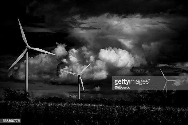 Wind turbines making power