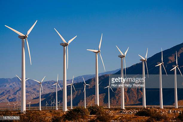 wind turbines near palm springs, ca - palm springs california stock pictures, royalty-free photos & images