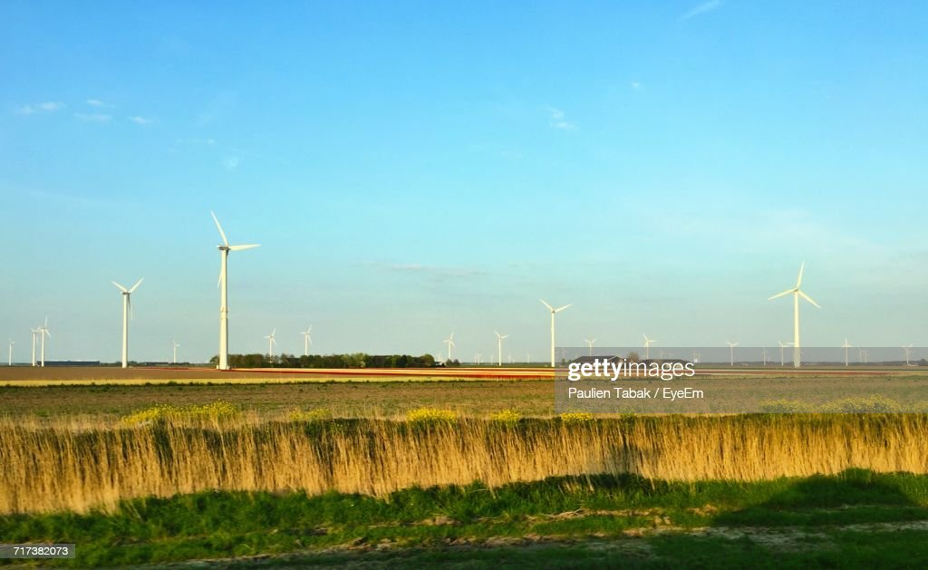 Wind Turbines On Field : Stockfoto