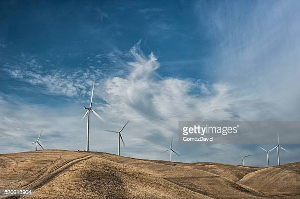Wind Turbines On Hill
