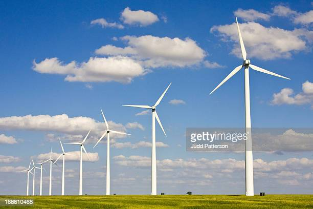 Wind turbines on the plains