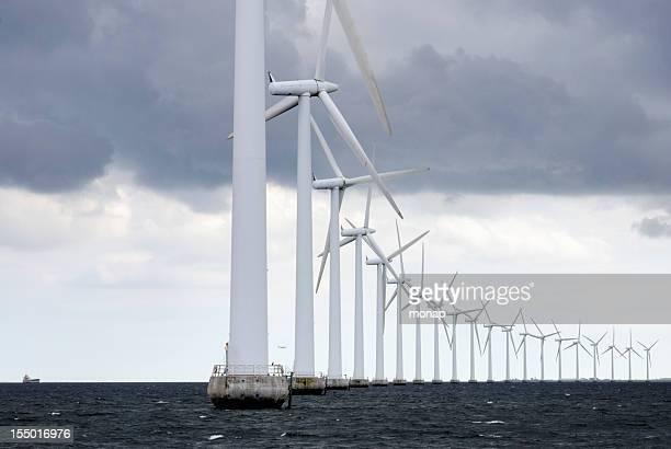 Windturbinen vor Kopenhagen, Dänemark