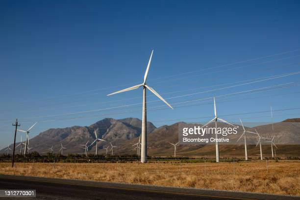 wind turbines - south africa stock pictures, royalty-free photos & images