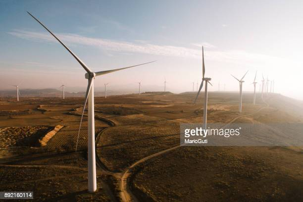 wind turbines - windmills stock photos and pictures