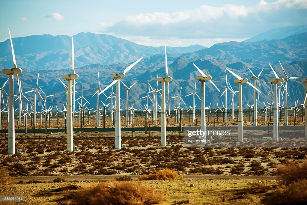 Wind Turbines PowerPlant : Stock Photo