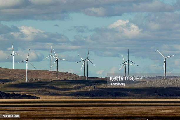 Wind turbines stand at the Capital Wind Farm operated by Infigen Energy in Bungendore New South Wales Australia on Friday July 31 2015 Wind supplied...