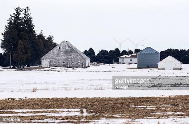 STATES JANUARY 30 wind turbines turn in the background of a snowy scene Saturday Jan 30 in Waterloo Iowa