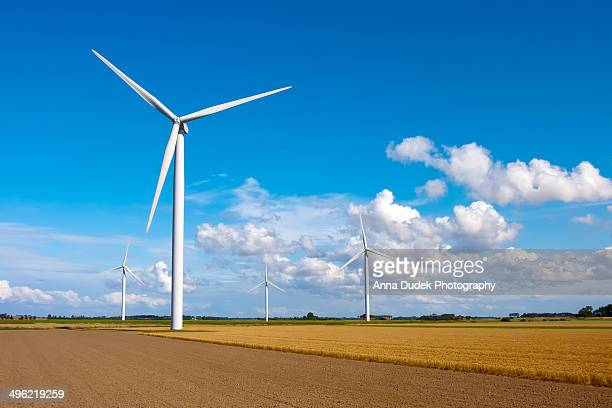 Wind turbines, Zeeland, Netherlands