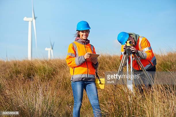 windfarm female surveyor