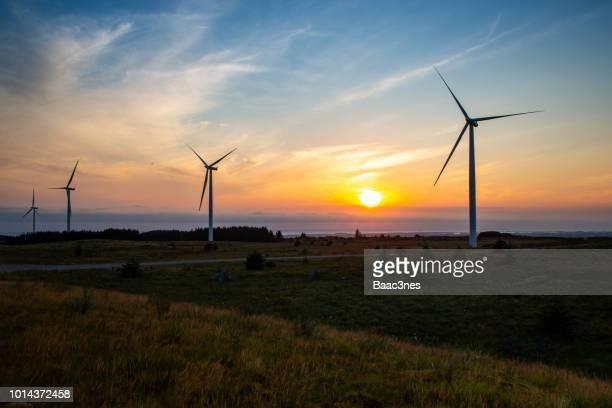 windfarm in norway - climate stock photos and pictures