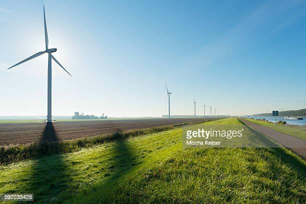 Windfarm, Rilland, Zeeland, Netherlands