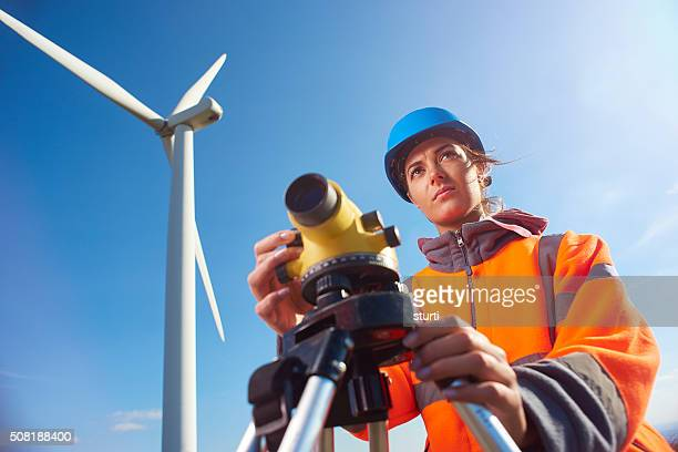 windfarm surveyor - civil engineering stock pictures, royalty-free photos & images