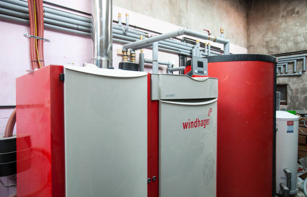 A Windhager biomass boiler