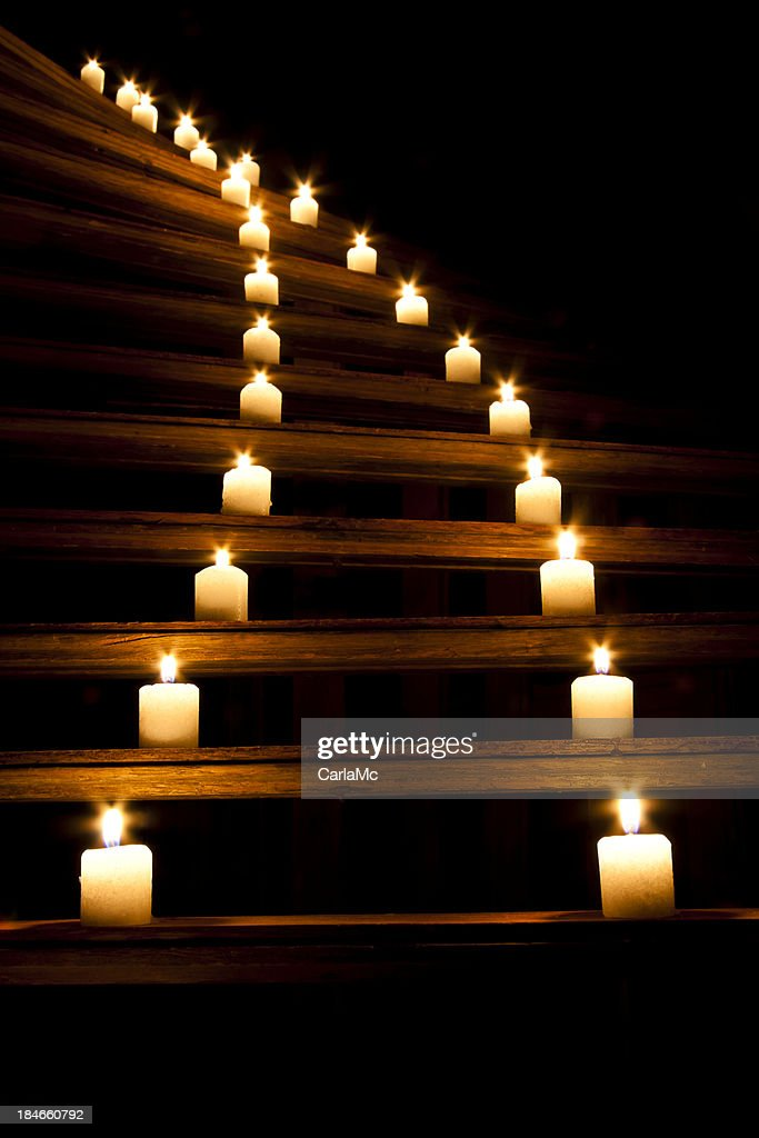 Winding candlelight : Stock Photo
