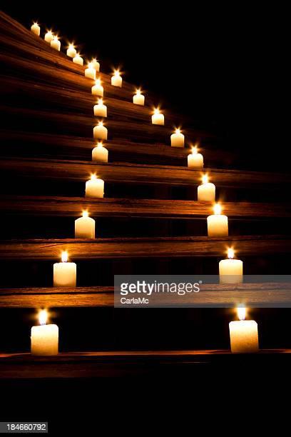 Winding candlelight
