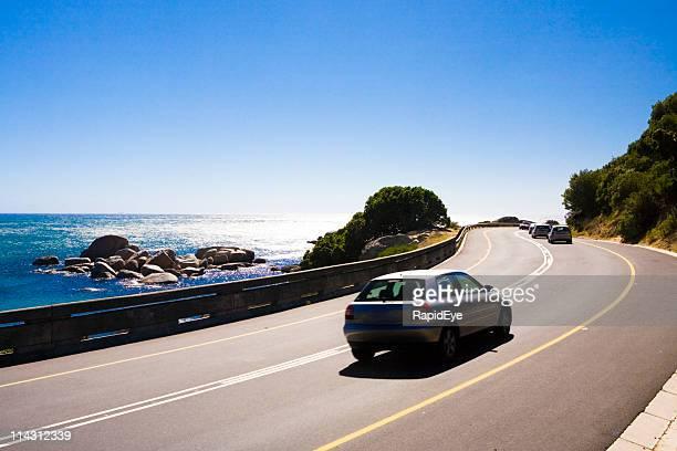 Winding coast road